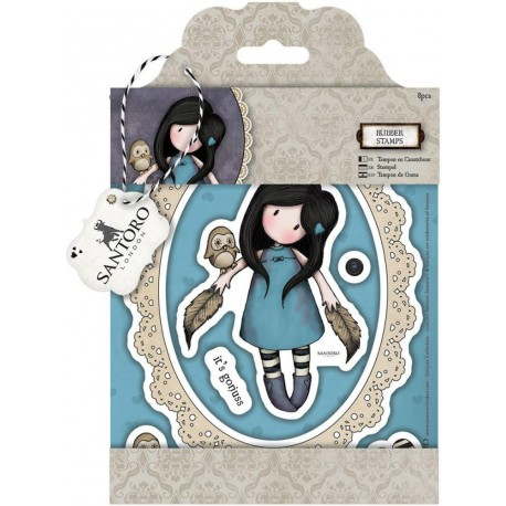 The Owl Gorjuss Urban Rubber Stamps