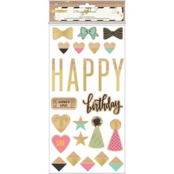 Confetti Die-Cut WoodPieces 25 Pkg by Maggie Holmes Crate Paper