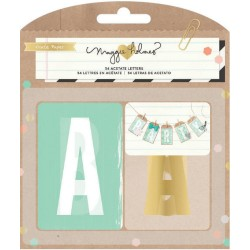 Confetti Acetate Letters 54 Pkg by Maggie Holmes Crate Paper