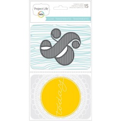 Clear Transparencies Themed Cards 15 Pkg Project Life