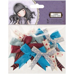 Gorjuss Large Ribbon Bows 12 Pkg