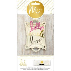 Die-Cut Jumbo Words Minc Collection 6 Pkg Heidi Swapp American Crafts