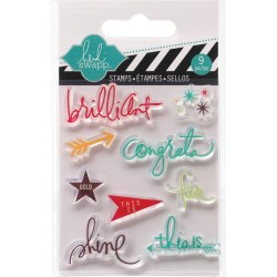 "Brilliant Clear Mini Stamps 3""x3,5"" Heidi Swapp"