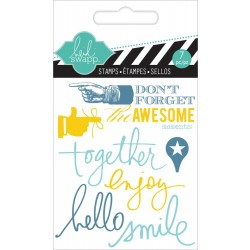 "Together Clear Mini Stamps 3""x3,5"" Heidi Swapp"