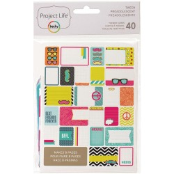 Tween Project Life Themed Cards 40 Pkg American Crafts