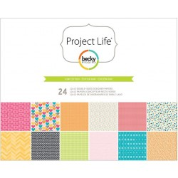 "Kiwi Edition Project Life Desinger Paper Collection 12""x12"" American Crafts"