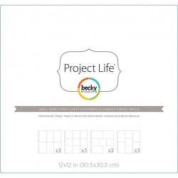 Small Variety Pack 4 Project Life Page Protectors 12 Pkg