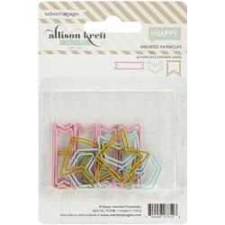 Teal Arrows Gold Flags & Pink Happy Banners Banners Dream In Color Shaped Paper Clips Assorted 15 Pkg