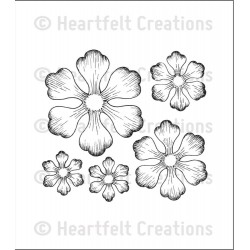 Arianna Blooms Cling Rubber Stamps Heartfelt Creations