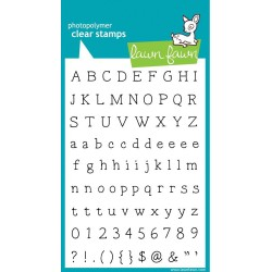 """Smitty's ABCs Clear Stamps 4""""x6"""" Lawn Fawn"""