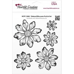 Tattered Blossoms Cling Stamps Heartfelt Creations