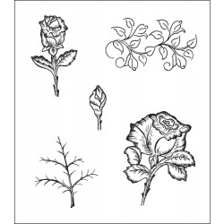 Bella Rose Leaves Cling Rubber Stamps Heartfelt Creations