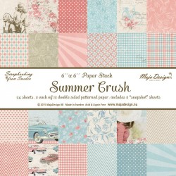 "Summer Crush Paper 6""x6"" Paper Stack Maja Design"