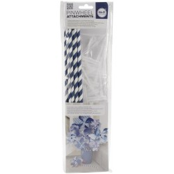 Navy Pinwheel Attachments We'R Memory Keepers