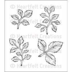 Open Leaf Cling Rubber Stamps Heartfelt Creations