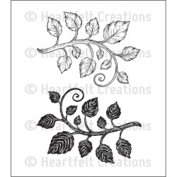 Classic Leaf Cling Rubber Stamps Heartfelt Creations