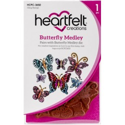 Butterfly Medley Cling Rubber Stamps Heartfelt Creations