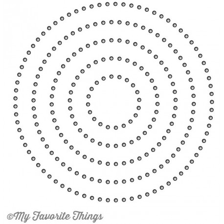 Stitchable Dot Circle STAX Die-namics