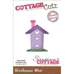 Birdhouse Mini Die CottageCutz