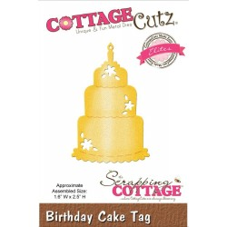 Birthday Cake Tag Elites Die CottageCutz