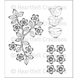 Birds & Blooms Cling Rubber Stamps Heartfelt Creations