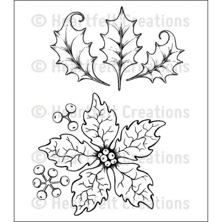Large Sparkling Poinsettia Cling Rubber Stamps Heartfelt Creations