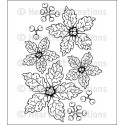 Sparkling Poinsettia Cling Rubber Stamps Heartfelt Creations