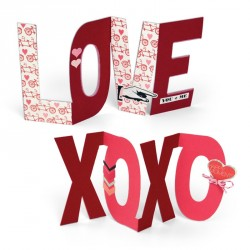 Love XOXO Bigz Plus Die Sizzix