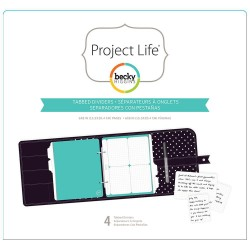 "Tabbed Dividers Project Life Planner 6""x8"" 4 Pkg"