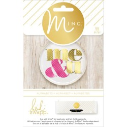 Polka Dot Alphabet Minc Collection 55 Pkg Heidi Swapp American Crafts