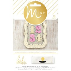 Jumbo Numbers Minc Collection 25 Pkg Heidi Swapp American Crafts