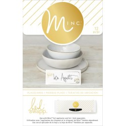White Place Cards Minc Collection 12 Pkg Heidi Swapp American Crafts