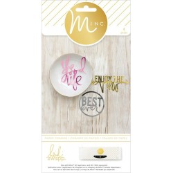 Die-Cut Phrases Minc Collection 4 Pkg Heidi Swapp American Crafts