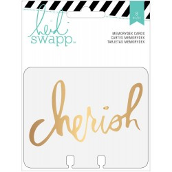 Wanderlust with Gold Foil Clear Memorydex Cards 8 Pkg Heidi Swapp