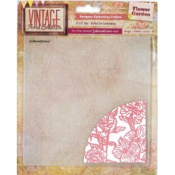"Flower Garden Embossalicios Embossing Folders 6""x6"" Crafter's Companion"
