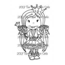 Angel Ellie Rubber Stamp Paper Nest Dolls