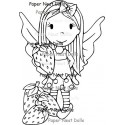 Strawberry Fairy Rubber Stamp Paper Nest Dolls