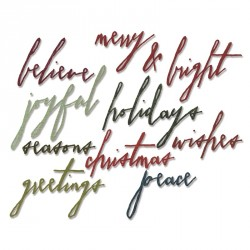 Handwritten Holidays Sizzix Thinlits by Tim Holtz