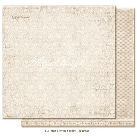 "Carta White Christmas 12""x12"" Home for the Holidays Collection Maja Design"