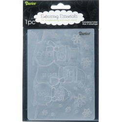 Leafy Tree Trunk Embossing Folder Darice