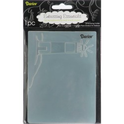 Bride & Groom Embossing Folder Darice