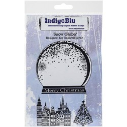 Ledger Background IndigoBlu Rubber Stamps