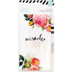 Clear With Printed Design Personal Memory Planner Dividers 6 Pkg Heidi Swapp