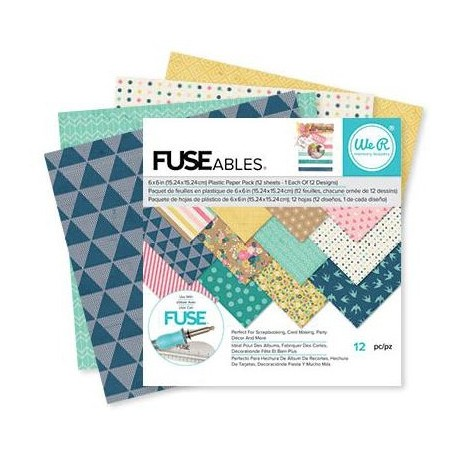 "FUSEables Plastic Paper Pack 4""x6"" 12 Pkg We'R Memory Keepers"