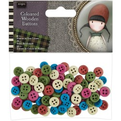 Bottoni di Legno Colorati Coloured Wooden Buttons Gorjouss Santoro