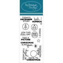 Planner-Important Clear Stamps Technique Tuesday