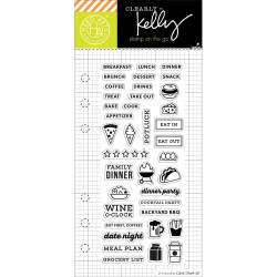"""Food Planner Clear Stamps 2,5""""x6"""" Kelly Purkey Hero Arts"""