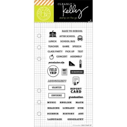 "Timbro Home Planner Clear Stamps 2,5""x6"" Kelly Purkey Hero Arts"