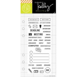 "Travel Planner Clear Stamps 2,5""x6"" Kelly Purkey Hero Arts"