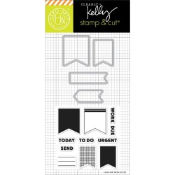 "Timbro Occasion Planner Clear Stamps 2,5""x6"" Kelly Purkey Hero Arts"